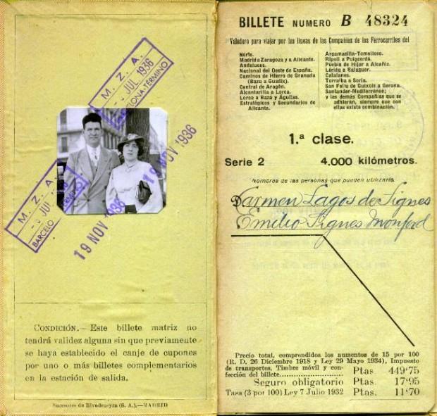 Viaje de carmen y emilio a espa a 1936 for Viajes baratos paris barcelona